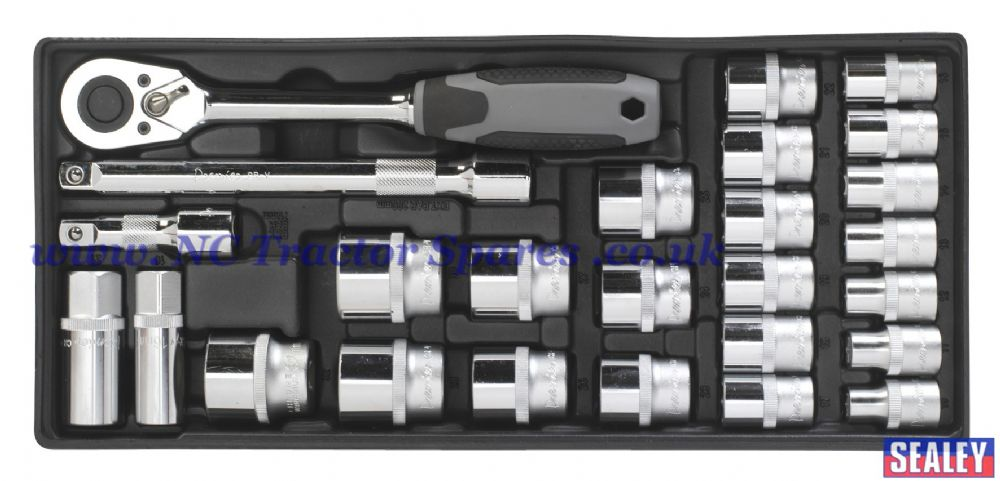 "Tool Tray with Socket Set 26pc 1/2""Sq Drive."